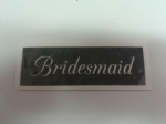 1 - 100  x Bridesmaid word stencils for etching on glass  craft hobby glassware  wedding favor gift present